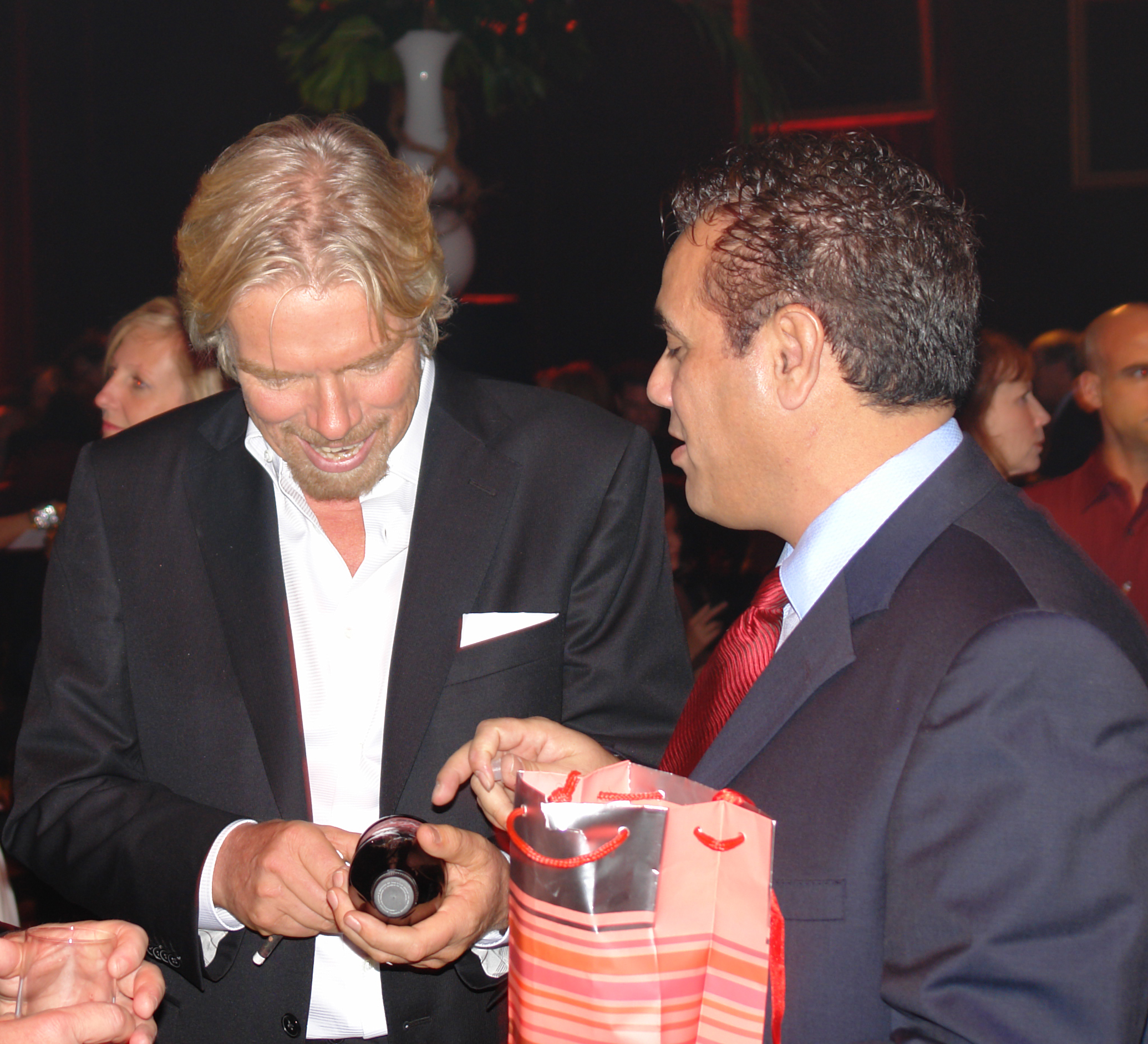 Richard Branson looking at Guide Light