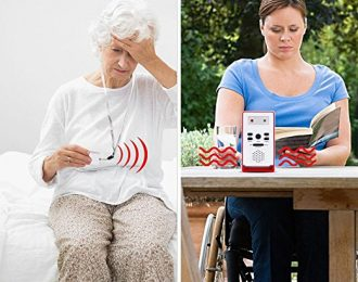 Caregiver Pager with Two Call Button